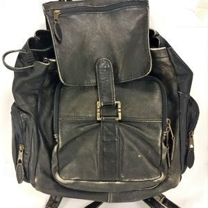 Factory Distressed Leather Backpack